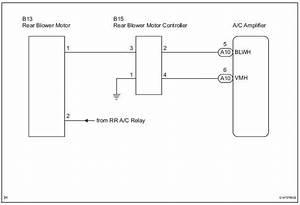 Toyota Sienna Service Manual  Rear Blower Motor Circuit