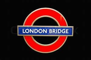 London bridge underground station sign | Stock Photo ...