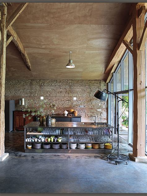 fashioned kitchen accessories lots to like in this rustic industrial kitchen cement 3629