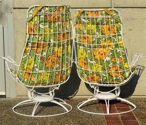 Vintage Homecrest Patio Furniture Cushions by Pair Homecrest Rocking Lounge Chairs And Ottoman W