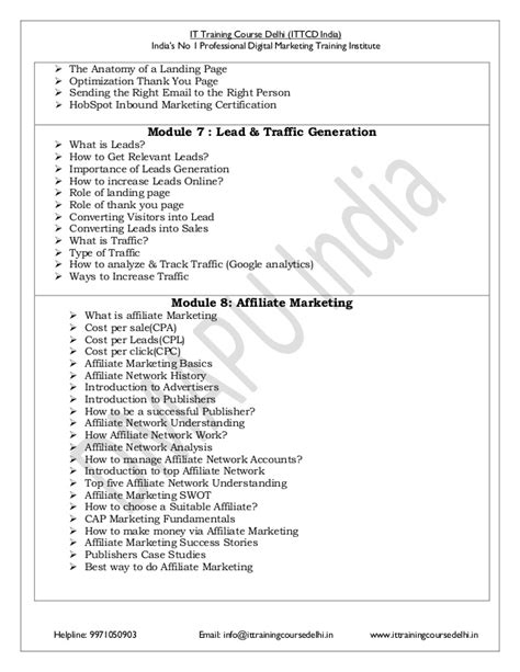 Digital Marketing Course Curriculum by Advance Certified Digital Marketing Course Syllabus Pdf