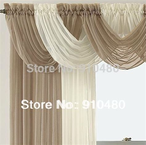 beautiful sheer curtain valance waterfall swag valance