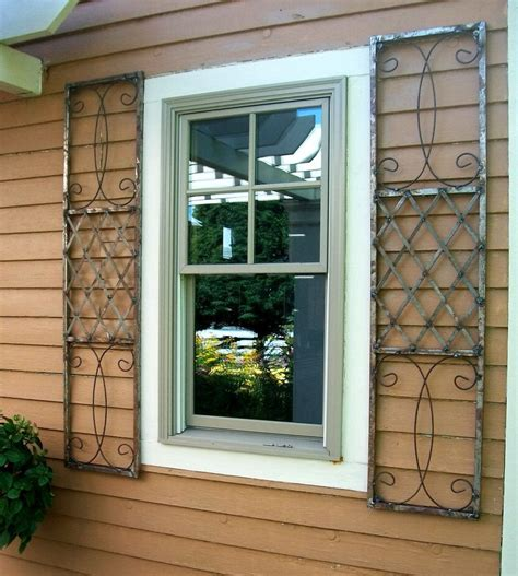 steel shutters for windows wrought iron exterior shutters for windows home ideas