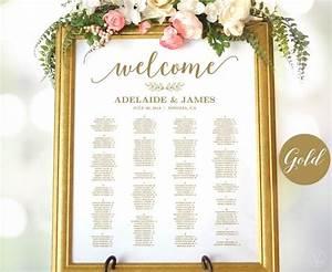 Gold Wedding Seating Chart Template Wedding Seating Chart