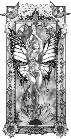 Monarch by flemart   Penny's skulls & tattoos I like   Fairy coloring pages, Fairy coloring