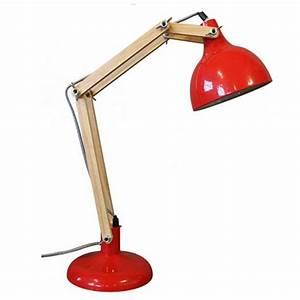 Lampe De Bureau Architecte : lampe de bureau articul e m tal bois hadar par ~ Dailycaller-alerts.com Idées de Décoration