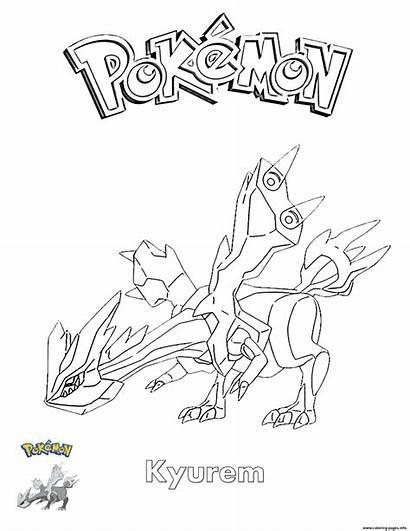 Coloring Pokemon Kyurem Pages Printable Pokemon Super