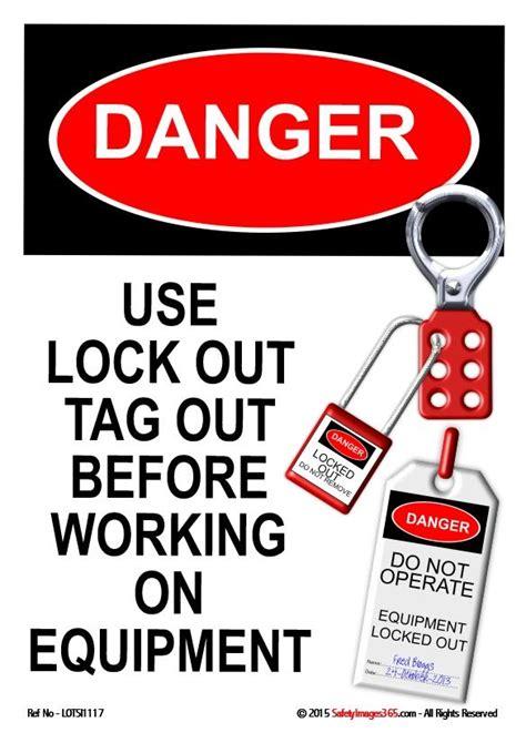 lock  tag  safety poster danger  lock  tag