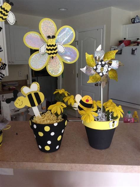 Bee Day Centerpiece, 1st Birthday Bumble Bee Theme 1st