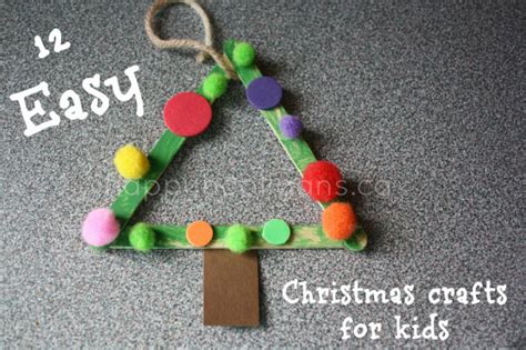 christmas crafts for kids easy homemade ornaments happy hooligans