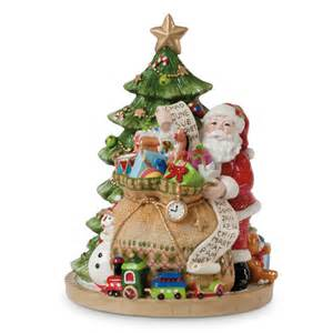 fitz and floyd holiday musical gifts from santa figurine reviews wayfair