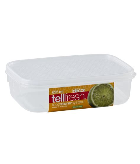 decor tellfresh oblong container  ml buy