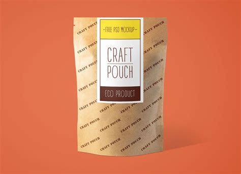 In this adobe photoshop file you can create your own fully customizable packaging project where you can display your own brand. Free Kraft Paper Standing Pouch Mockup PSD Set - Good Mockups