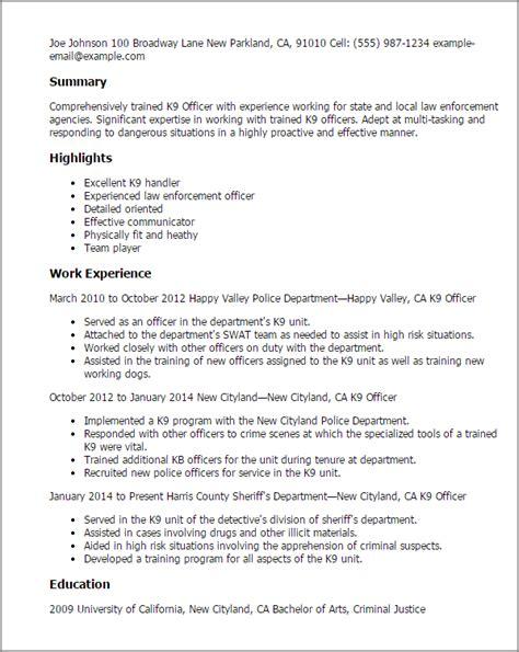 dog handler job description sample mt home arts