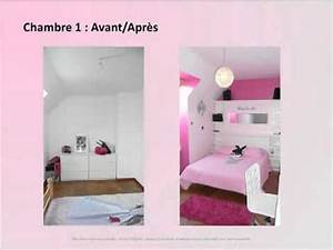 deco chambres adosmp4 youtube With amenagement chambre 2 lits