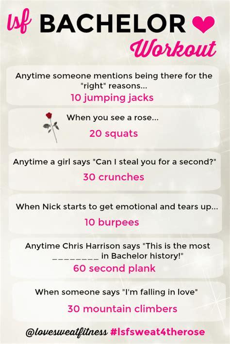 bachelor workout love sweat fitness