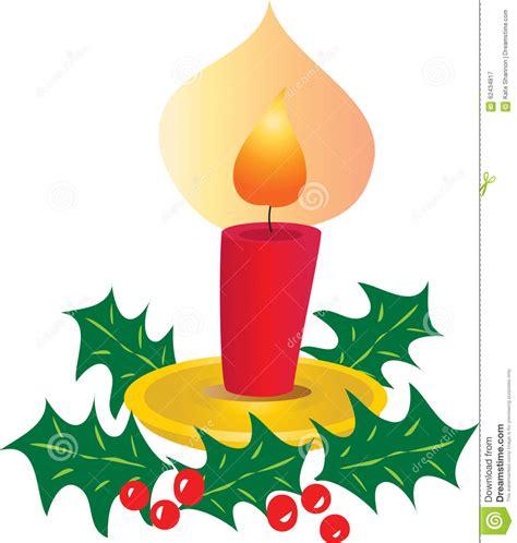 Candela Natale by Candela Di Natale Con Agrifoglio Illustrazione Vettoriale