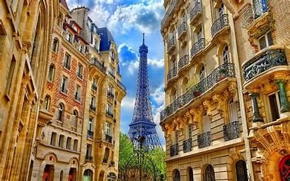 Paris France Tower Eiffel Buildings Between 1600