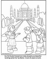 Coloring India Pages Guide Printable Indian Makingfriends Guides Colouring Scout Sheets Drawing Scouts Thinking Taj Mahal Crafts Cartoon Round Columbus sketch template