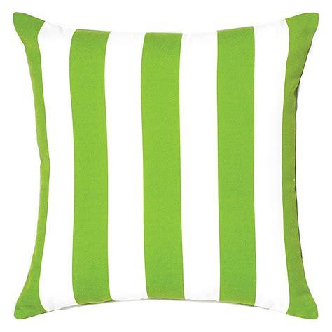 riviera stripe green outdoor cushion 50x50cm hupper
