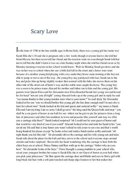 Scary love (story)