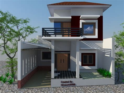 desain rumah minimalis modern  lantai  desain rumah