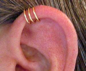 No Piercing Helix Ear Cuff Triple Loops 1 Cuff Color ...