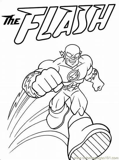 Dc Coloring Pages Comics Printable Flash Others