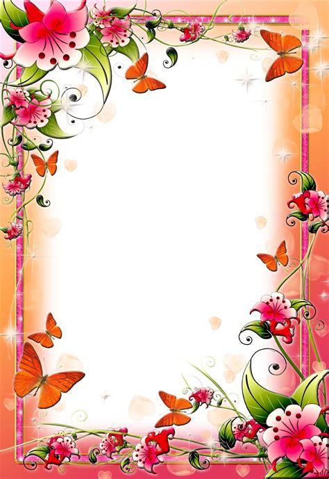flower frame border design images flower border