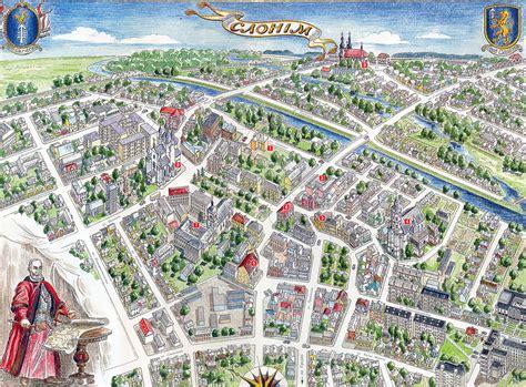 Туристическая карта города Слонима