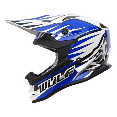 wulf motocross wulf cub childs advance blue motocross helmet acu quad