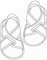 Sandals Coloring Flip Pages Flop Flops Printable Colouring Shoes Popular sketch template