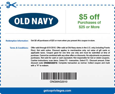 Old Navy Coupons  Printable Coupons Online