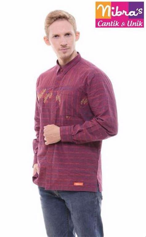 jual new baju koko laki laki murah nibras nk 05 marun original jual baju koko di lapak yusie