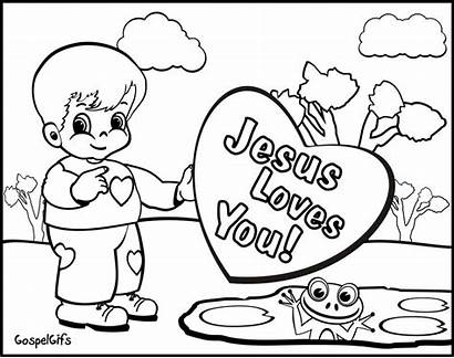 Coloring Christian Pages Valentine Children Resolution Colouring