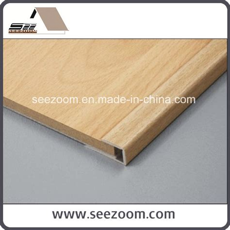 china aluminum aluminium wood laminated floor tile
