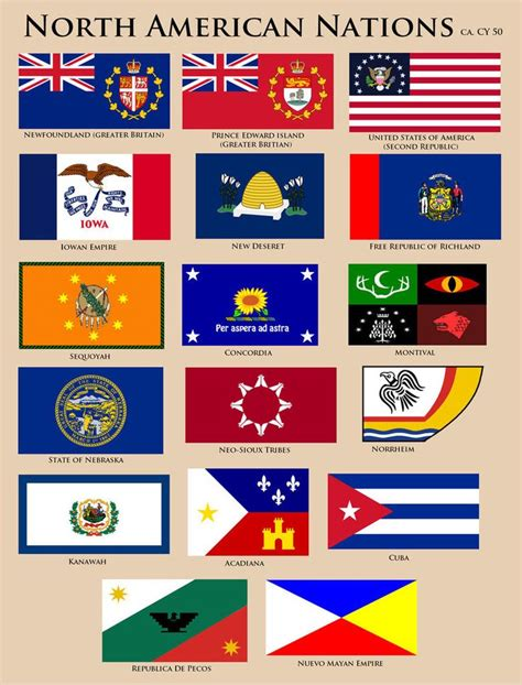 Flags of North America CY 50 by YNot1989   North america ...
