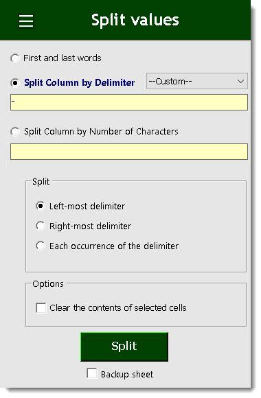 excel split column  delimiter