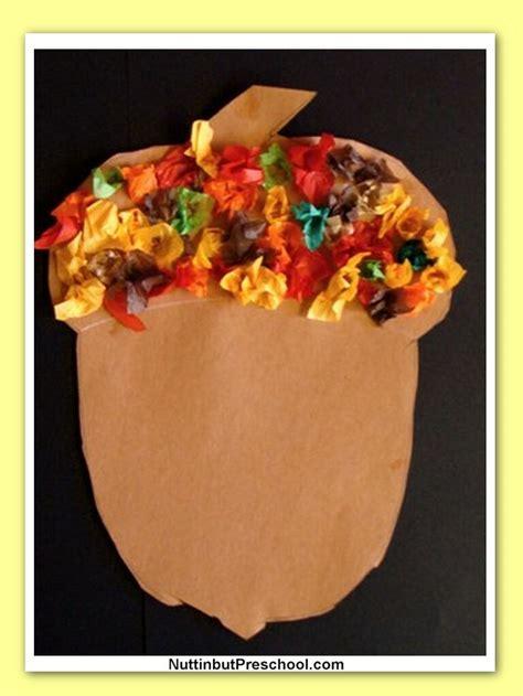 tissue paper acorn family crafts 621 | 77da1a790953cbe581e1e54830af73f5