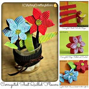 3D Corrugated Sheet Quilled Flowers - Artsy Craftsy Mom
