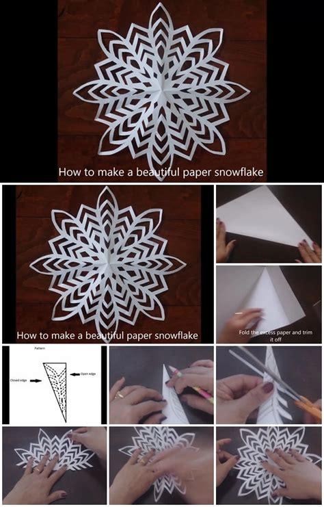 snowflake paper tutorial diy sheet single usefuldiy