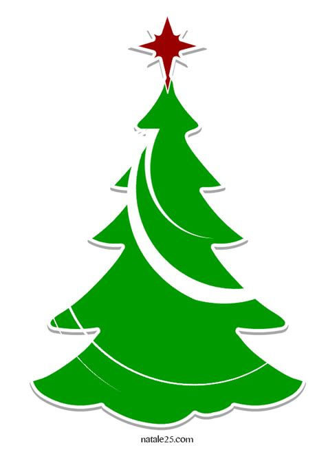 albero clipart disegni natalizi stilizzati ej14 pineglen