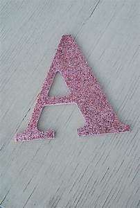 Decorative pink glitter wall letters by lettersfromatoz on for Pink glitter letters