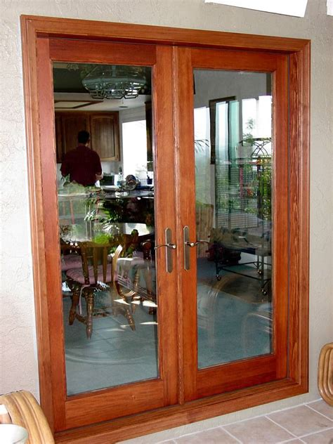 wood double french doors  prehung
