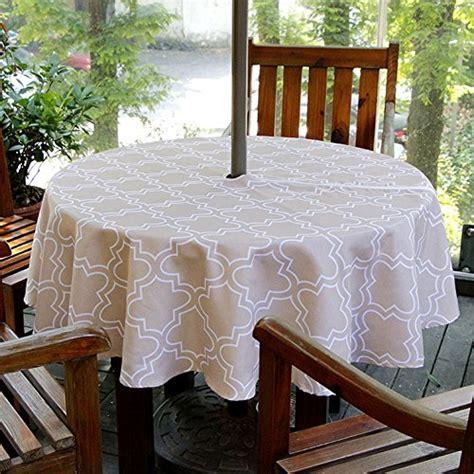 patio table cover with zipper and umbrella hole patio umbrella tablecloth