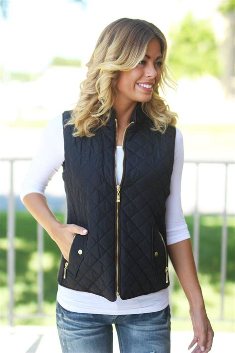 black quilted vest black quilted vest with pockets boutiques saved