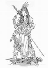 Pirate Deviantart Bard Fantasy Yamaorce Comm Female Character Tattoo Dragons Dungeons Warrior Armor Rpg Viking Characters Drawings Sketch Clothes Create sketch template