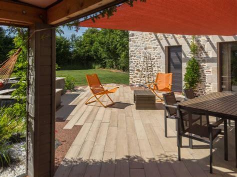 extension cuisine sur jardin installation d 39 une terrasse en béton boibé chez un particulier maisonapart