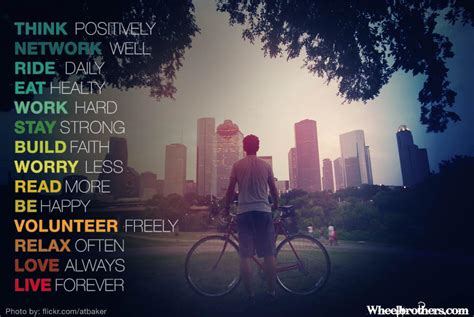 positively network  ride daily eat healthy    date  texas bicycle