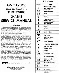 1972 Gmc Truck Shop Manual 72 Pickup Sierra Jimmy Suburban